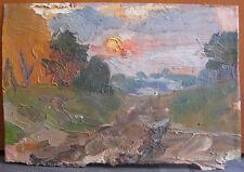 "Oil painting ""Sunset"" Igor Gorovoj Ukraine USSR 1950s"