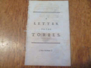 1747 Baron George Lyttelton (attrib.), A Letter to the Tories 1st ed.