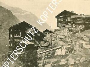 Täsch - Dorf - Holzhäuser - Wallis -  um 1910   X 46-9