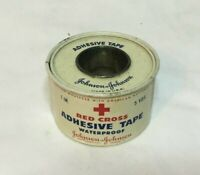*Vintage Advertising Tin JOHNSON & JOHNSON Red Cross Adhesive Bandage Tape 5 yds