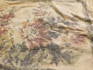 Set Of 2 Croscill Normandy Standard Pillow Shams, muted Floral/Scroll Back onTan