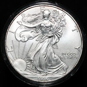 1996   U.S.A. Walking Liberty Eagle One Dollar   Silver   Coins   KM Coins
