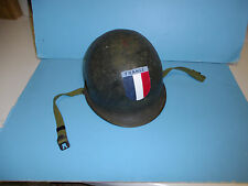 h26 WW 2 US Steel Pot hand painted Free French France