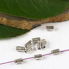 180pcs Tibetan silver long tube spacer beads h2750