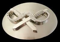 Pirate Swords Daggers Pirates Cross-Swords Rhinestone Belt Buckle Buckles