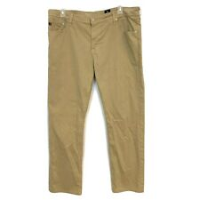 AG Adriano Goldschmed Men's Size 40 x 32 Brown The Graduate Tailored Leg Pants
