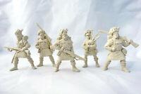 Scottish Highlanders 5 Figures 54 mm Scots Plastic Toy Soldiers Tehnolog New