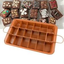 18 Grids Non Stick Brownie Cake Pan With Divider Stainless Steel Baking Pan
