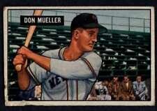 1951 Bowman #268 Don Mueller VG/VGEX NY Giants A2635