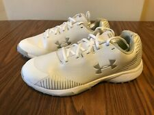 Under Armour Lax Finisher White Turf Lacrosse Shoes Size 10.5 US Women's