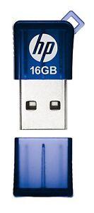 HP v165w 16GB USB 2.0 Flash Pen Drive - Blue New Retail Pack