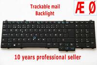 Norwegian Danish Dansk Nordic Keyboard for Dell Latitude E5540 Tastatur Backlit