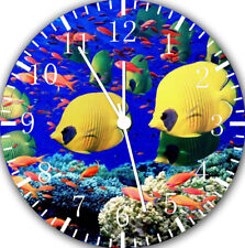 Tropical Ocean Fish Frameless Borderless Wall Clock Nice For Gifts or Decor E301