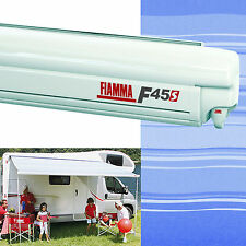 Fiamma F45 S Awning Wind Out 300 Polar White Case Blue Ocean Fabric 06280A01N