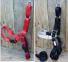 Dog Harness Easy Walk Touring Adjustable Nylon Quick Snap Buckles Red Black XL