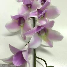 6 x Silk wedding flowers artificial lavender Singapore orchid flowers orchids
