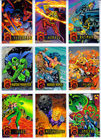DC Outburst Firepower Embossed 80 Card Set from Fleer Skybox 1996