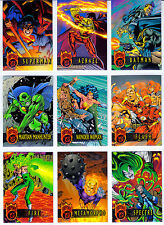 DC Outburst Firepower Embossed 80 Card Set from Fleer Skybox 1996