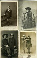 LOT  8 Carte - Photo Jeunes filles Enfants garçons et filles circa 1900 1930