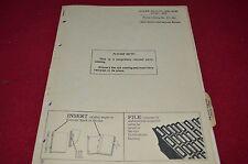 John Deere 2200 2200A Disc Tiller Dealer's Parts Book Manual PANC