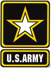 US Army Logo Decal Military Black Yellow and White New