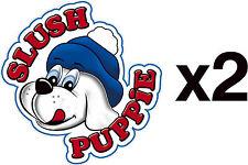 2x Slush Puppie stickers - Puppy decals for catering, ice cream vans & trailers