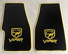 Autoteppich Fußmatten Chrysler Dodge Viper RT10 GTS schwarz gelb Velours Neu