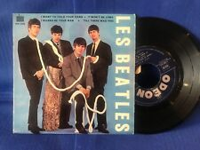 THE BEATLES EP WANT TO HOLD SOE 3745 ORIG FRANCE LANGUETTE EXC+