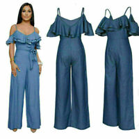 Sexy Women Jumpsuit Romper Bodycon Playsuit Nigthwear Trousers Party Long Pants