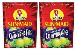 Sun Maid California Calimyrna Figs Dried Fruit 2 Bag Pack