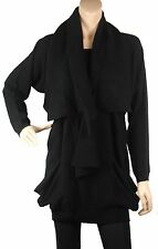 Luxury designer Knitwear on sales -ConMiGo black artistic fine jumper with scarf
