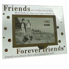 Sixtrees Moments Bevelled Glass Forever Friends 6 x 4 Picture Photo Frame Gift