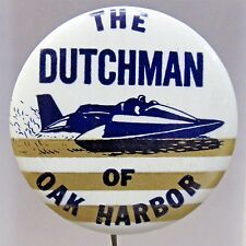 1967 THE DUTCHMAN horiz. BOTTOM stripes Hydroplane pinback button STRAIGHT PIN