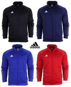 Adidas Boys Tracksuit Top Junior Kids Core Zip Track Jacket Jumper Sweatshirt