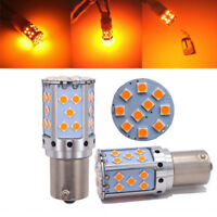 2pc No Hyper Flash 21W Amber BAU15S 7507 PY21W 1156PY LED Bulb Turn Signal Light