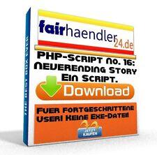 PHP-SCRIPT No. 16 Neverending Story - Webseite Tool Script PC Software E-Lizenz