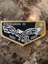 OA Kishkakon Lodge 32 1990-2009 GMY Bdr,Trails West Council,51,81,126,IL