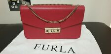 FURLA Metropolis Raspberry Red Leather Shoulder/Crossbody Bag Purchased £295