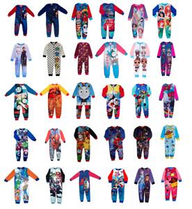 Boys Kids Character 1Onesie One Piece Fleece Pyjama Sleepsuit Age 18 Mths-12 Yrs