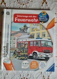 Tiptoi Buch  Unterwegs mit der Feuerwehr