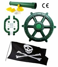 Green Kids Toy Climbing Frame Accessory Bundle With FREE Pirate Flag