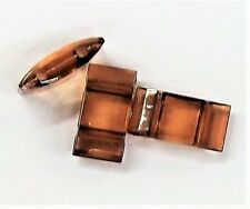 Dk Topaz Pillow Acrylic Bead Carrier duo © Peyote 2 hole USA Distributor  #49