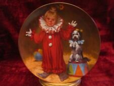 TOMMY THE CLOWN collector plate JOHN McCLELLAND Children's CIRCUS dog