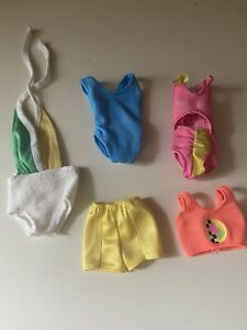 vintage barbie swimwear lot shorts  and swimsuits