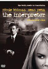 DVD - The Interpreter (M) Sean Penn Nicole Kidman Action/Thriller