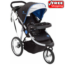 J is for Jeep Brand All-Terrain Baby Jogging Stroller Trek Blue Reclining Seat