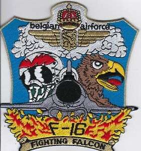 Belgian air force Fighting Falcon F-16 patch