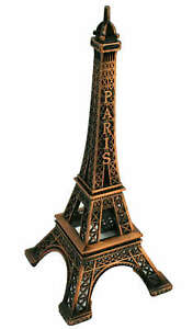 BROWN Eiffel Tower Paris France Metal Stand Model For Table Decor CHOOSE SIZE