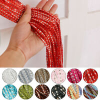 String Curtain Fly Screen Window Panel Tassel Voile Net Curtains Room Divider AU