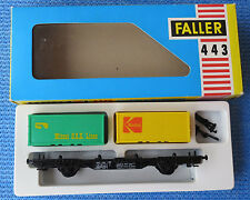 Faller AMS  443 --  Waggon mit Container  in OVP -- RAR -  !